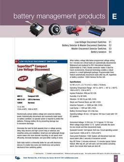 D-100 Marine Battery Management Products