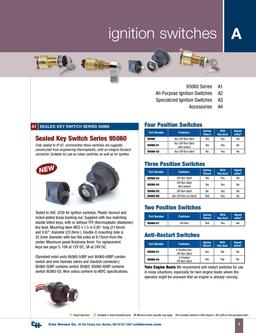 D-100 Marine Ignition Switches