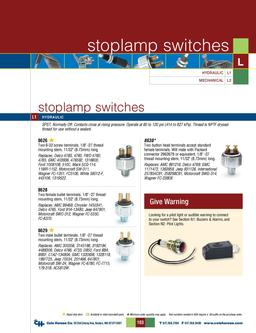 D-275 Master Stoplamp Switches