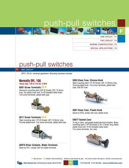 D-275 Master Push-pull Switches