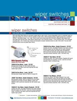D-275 Master Wiper Switches