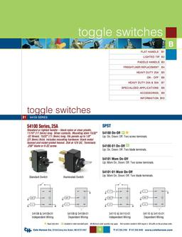 D-275 Master Toggle Switches