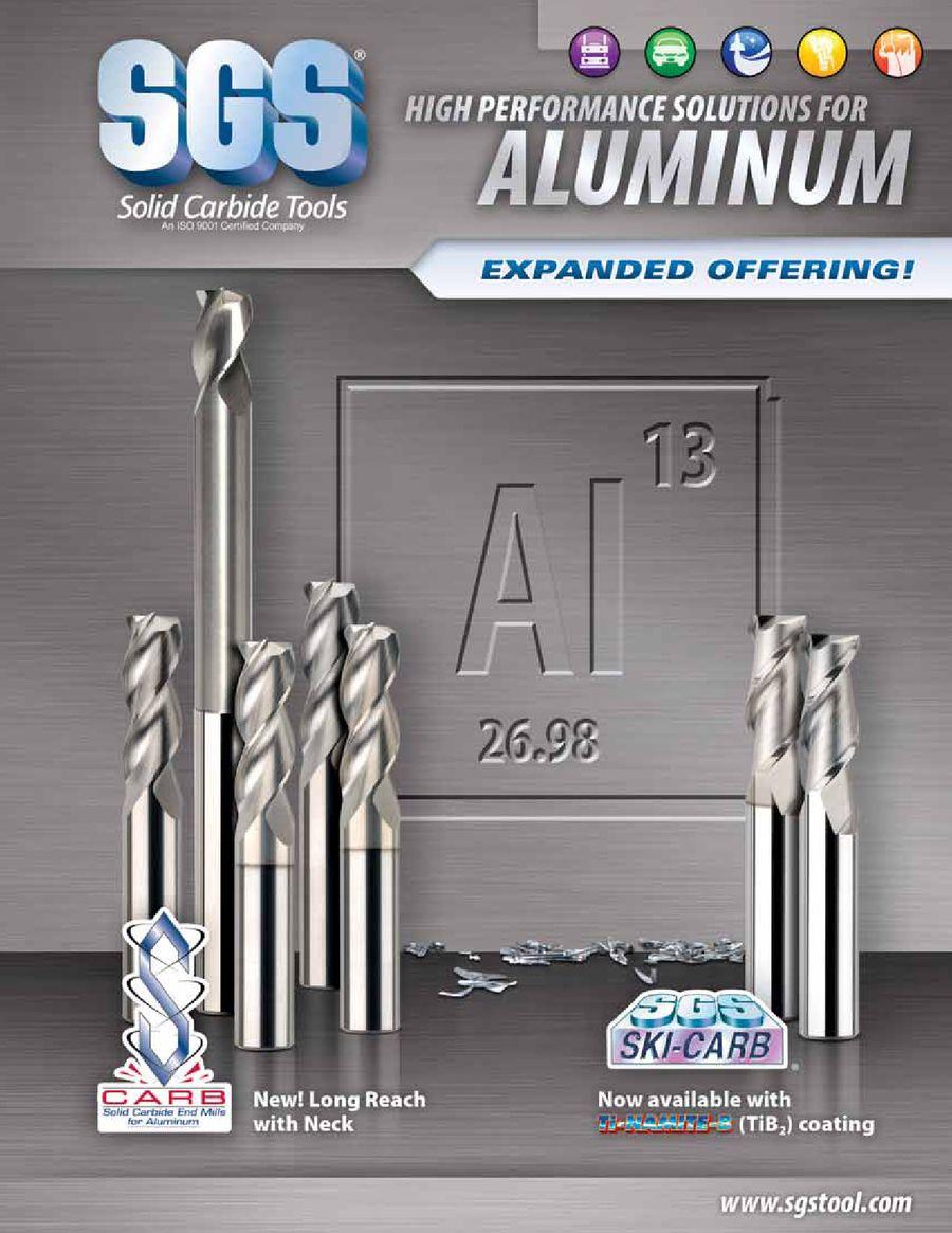 1 Cutting Diameter 6 Length 2-3//8 Reach 1-1//4 Cutting Length 1 Shank Diameter SGS 32743 43L S-Carb High Performance End Mill Titanium Diboride Coating