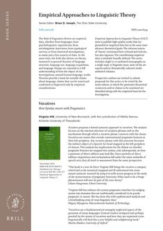 Empirical Approaches to Linguistic Theory 2014