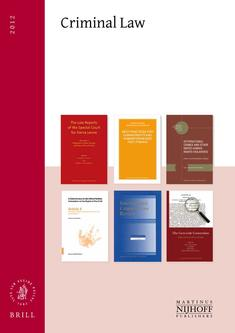 Criminal Law - Cluster Catalog - 2012