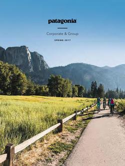Patagonia SS17 Corporate Catalog