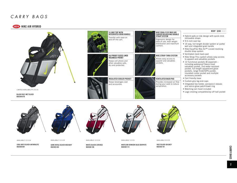 1a04ebad8f Nike Golf Bags 2015 by Drivingi
