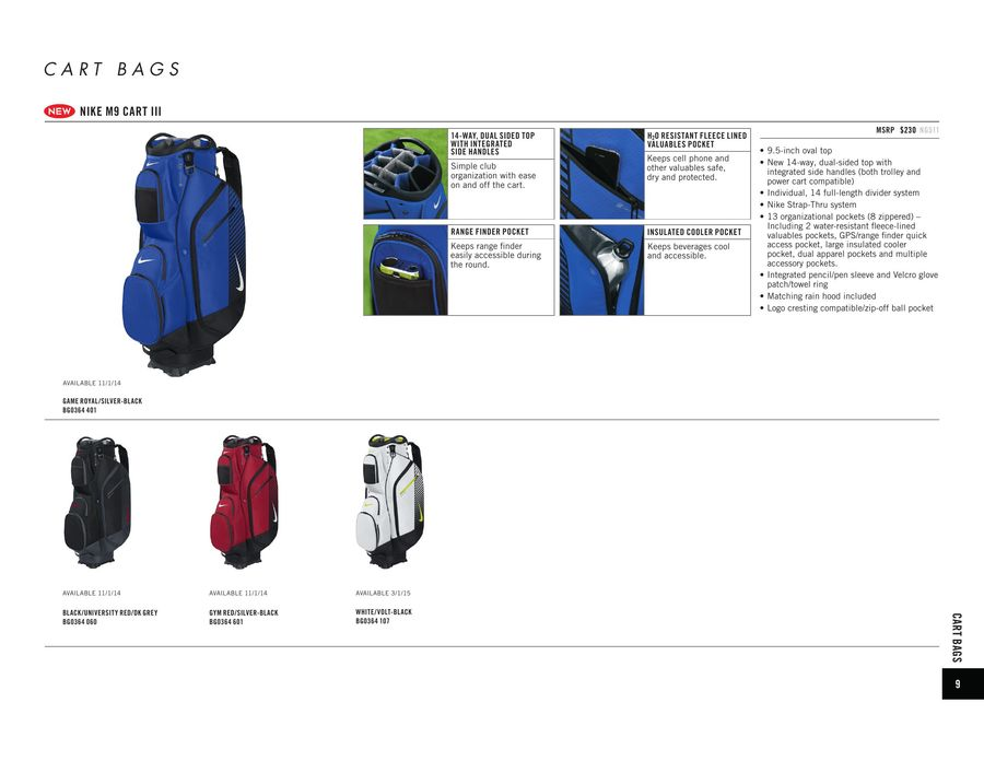 Page 10 of Nike Golf Bags 2015 0d8ab148b0