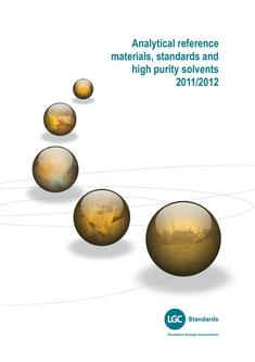 Analytical reference materials standards and high purity solvents
