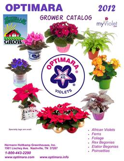 OPTIMARA 2012 Grower Catalog