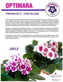 OPTIMARA 2012 Product Catalog