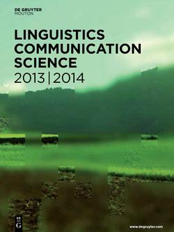 Linguistics (English) / Communication Studies 2013