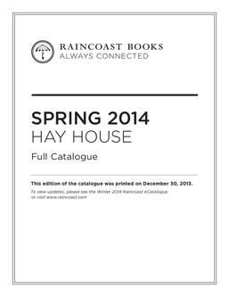 Hay House Spring 2014