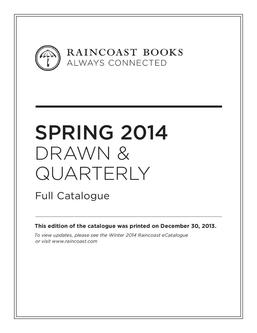 Drawn & Quarterly Spring 2014  Catalogue