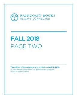 Page Two Fall 2018 Books