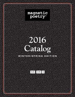 Magnetic Poetry Spring 2016 Books