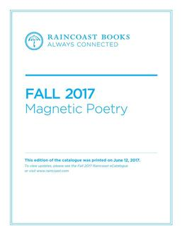 Magnetic Poetry Fall 2017 Books
