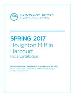 Houghton Mifflin Harcourt Spring 2017 Young Readers Catalogue