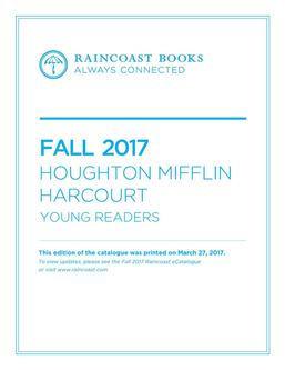Houghton Mifflin Harcourt Fall 2017 Young Readers Books