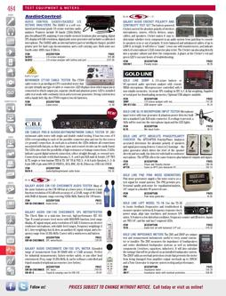 Test Equipment & Meters Fall/Winter 2011