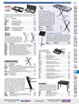 Musical Instruments - Keyboard Accessories Fall/Winter 2011