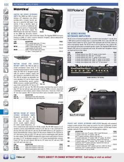 Musical Instruments - Keyboard Amplifiers Fall/Winter 2011