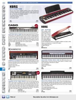 Digital Pianos & Arranger Workstations Fall/Winter 2011