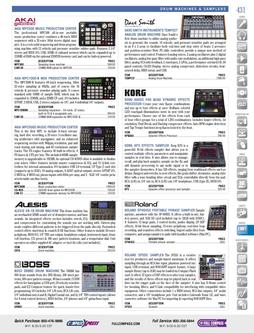Musical Instruments - Drum Machines & Samplers Fall/Winter 2011