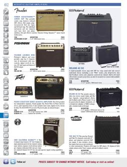 Musical Instruments - Acoustic Guitar Amplifiers Fall/Winter 2011