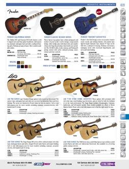 Musical Instruments - Acoustic Instruments Fall/Winter 2011