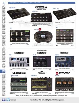 Guitar Signal Processing & Effects Pedals Fall/Winter 2011