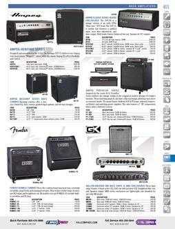 Musical Instruments - Bass Amplifiers Fall/Winter 2011