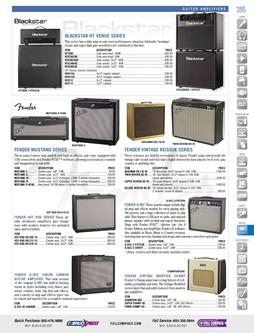 Musical Instruments - Guitar Amplifiers Fall/Winter 2011