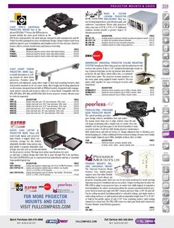 Video - Projector Mounts & Cases Fall/Winter 2011