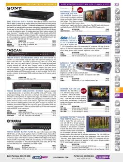Video Monitors & Displays (LCD, Plasma, & CRT) Fall/Winter 2011