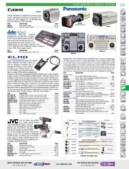 Video Cameras & Control Systems Fall/Winter 2011