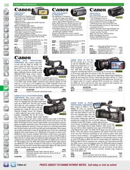 Video Camcorders Fall/Winter 2011