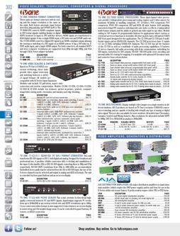 Video Amplifiers, Generators & Distributors Fall/Winter 2011