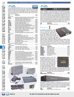 Video Scalers, Transcoders, Converters & Signal Processors Fall/Winter 2011