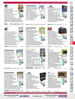 Software - Audio Effects & Processing Plug-Ins Fall/Winter 2011