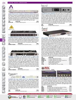 DAW/Hardware - Digital Audio Converters Fall/Winter 2011