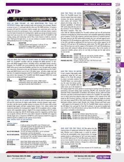 DAW/Hardware - Pro Tools HD Systems Fall/Winter 2011