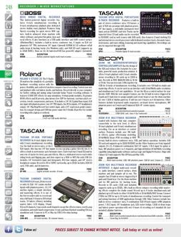 Recorders - Recorder/Mixer Workstations Fall/Winter 2011
