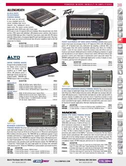 Powered Mixers (with built-in amplifiers) Fall/Winter 2011