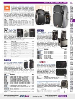 Sound Reinforcement Speakers: JBL to Yorkville Fall/Winter 2011