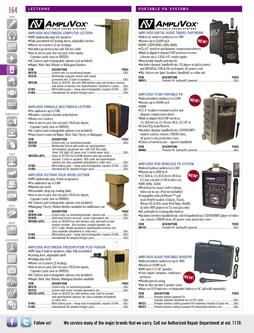 Speakers - Portable PA Systems Falll/Winter 2011