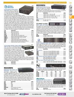 Commercial Amplifiers/Mixer Amplifiers Fall/Winter 2011