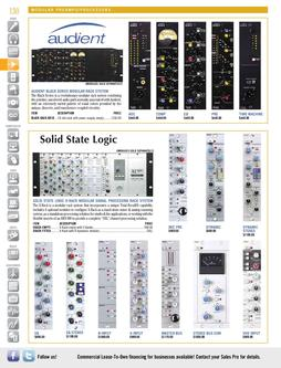 Modular Preamps & Processors Fall/Winter 2011