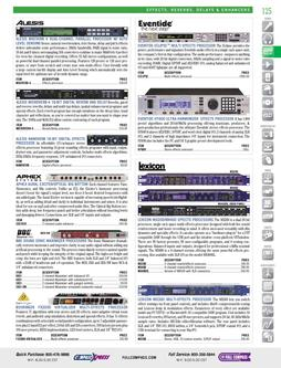 Signal Processors - Effects, Reverbs, & Enhancers Fall 2011
