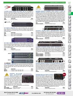 Signal Processors - Equalizers & Filters Fall/Winter 2011